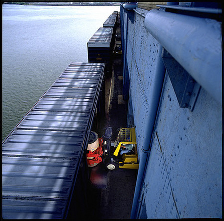Fork Lift,Delaware River, Loading Dock