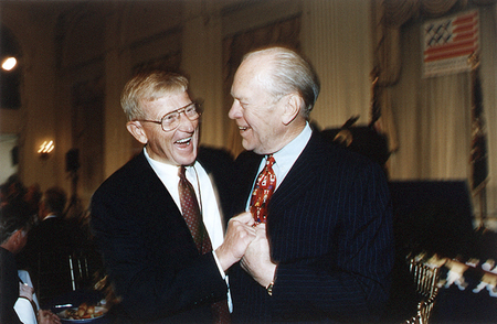 President Gerald Ford, Lou Holtz, ND vs. Michigan